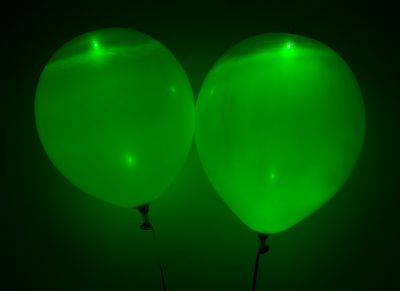 Green LED Balloons