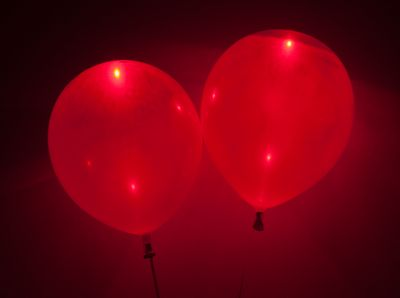 Red LED Balloons