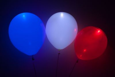 Red, White, and Blue LED Balloons